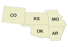 Kansas, Missouri, Oklahoma & Arkansas